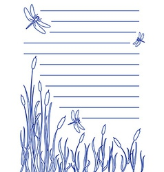 Dragonfly notepad vector