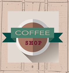 Coffee house logo in flat design style on vector