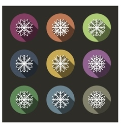 Icons of snowflakes vector