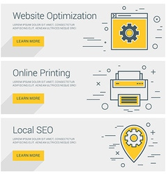 Website optimization online printing local seo vector
