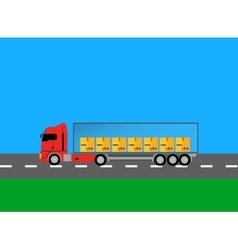 Trucks lorry icon design style flat vector