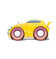 Cartoon orange car isolated on white vector