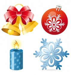 Christmas icon set vector