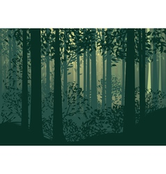 Abstract forest landscape 2 vector