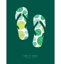 Abstract green circles flip flops vector