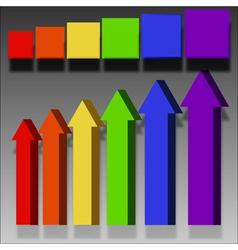 arrows labels elements vector image vector image