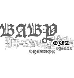 babyshower text word cloud concept vector image