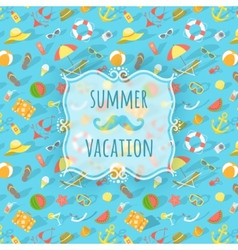 Blurred label on summer beach background vector