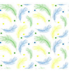 brazil carnival seamless pattern with feathers vector image vector image