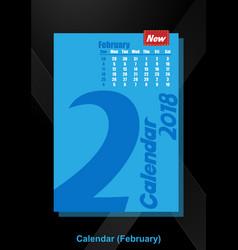 Calendar ui february image vector