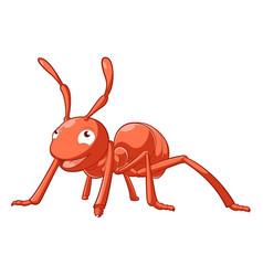 cartoon smiling ant vector image vector image