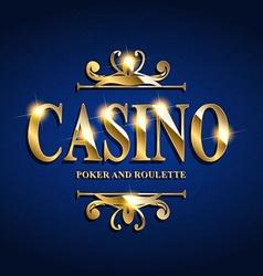Casino poster background vector