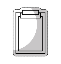Clipboard documents isolated icon vector