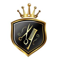 emblem for hairdressers vector image