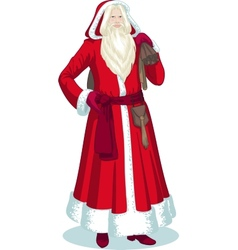French christmas character pere noel cartoon vector