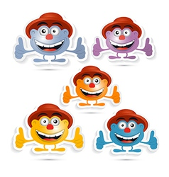 Funny Paper Men with Hat Symbol vector image