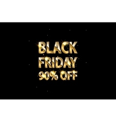 Gold shining text Black Friday on dark background vector image