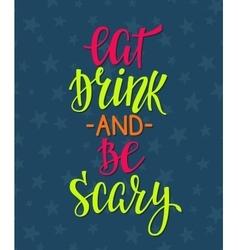 Halloween lettering typography vector