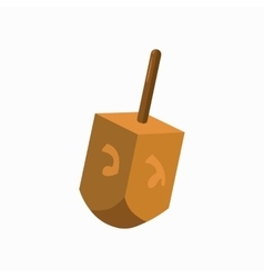 Hanukkah dreidel icon cartoon style vector
