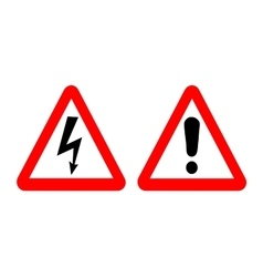 high voltage and warning signs vector image vector image