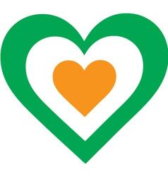 Irish Heart vector image vector image