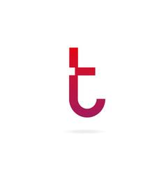 Letter t logo design template elements vector