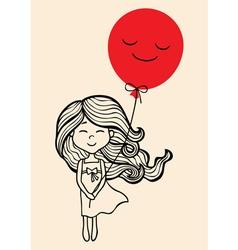 LITTLE GIRL vector image