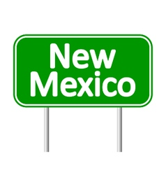 New mexico green road sign vector