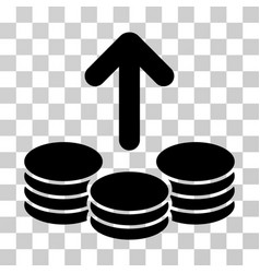 payout coins icon vector image