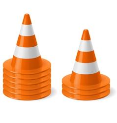 Piles of road cones vector