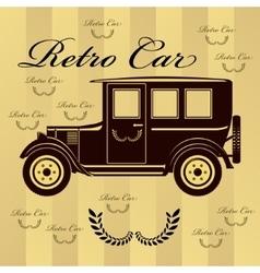 Retro car or background vector image vector image