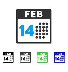 Romantic valentine day flat icon vector