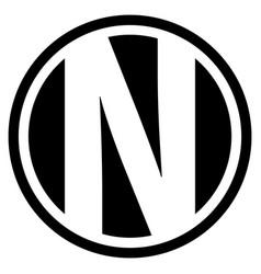 Round n logo vector