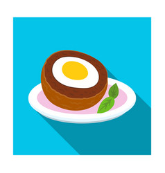 Scotch eggs icon in flat style isolated on white vector