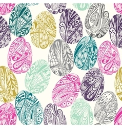 Seamless pattern with easter eggs isolated on vector image