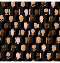 seamless pattern with men group or community vector image vector image