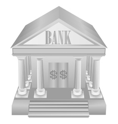 Silver bank icon vector