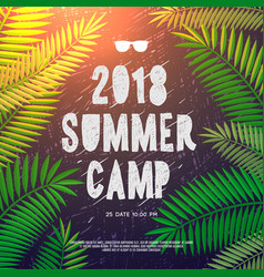 Summer holiday and travel themed summer camp vector