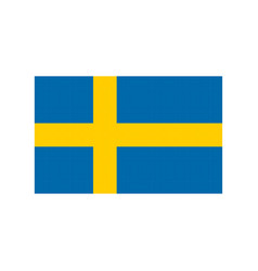 sweden flag pixel art cartoon retro game style vector image vector image