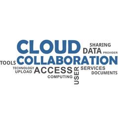 Word cloud - cloud collaboration vector