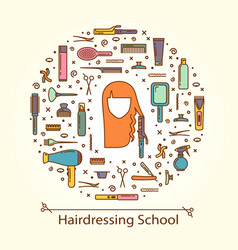 - hairdressing school vector