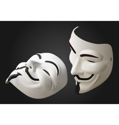 anonymous mask 3d isometric vector image