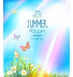 Beautiful summer with sunlight vector