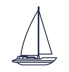 Sailboat maritime frame icon vector