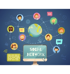 Social Networking People Of Different Occupations vector image