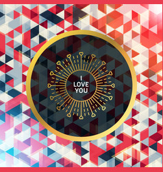 romantic golden minimal logo in circle frame vector image