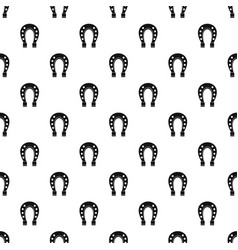 horse shoe pattern vector image