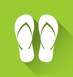Simple flip flop icon travel and holiday symbol vector