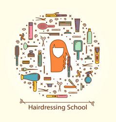 - hairdressing school vector
