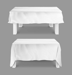 Table with tablecloth set empty vector